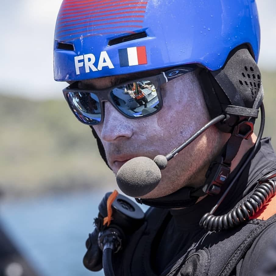 Sail GP France Big Blue Headset in action