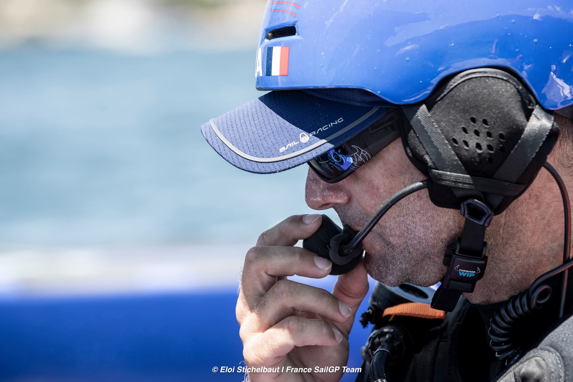 France SailGP team Big Blue headset in use