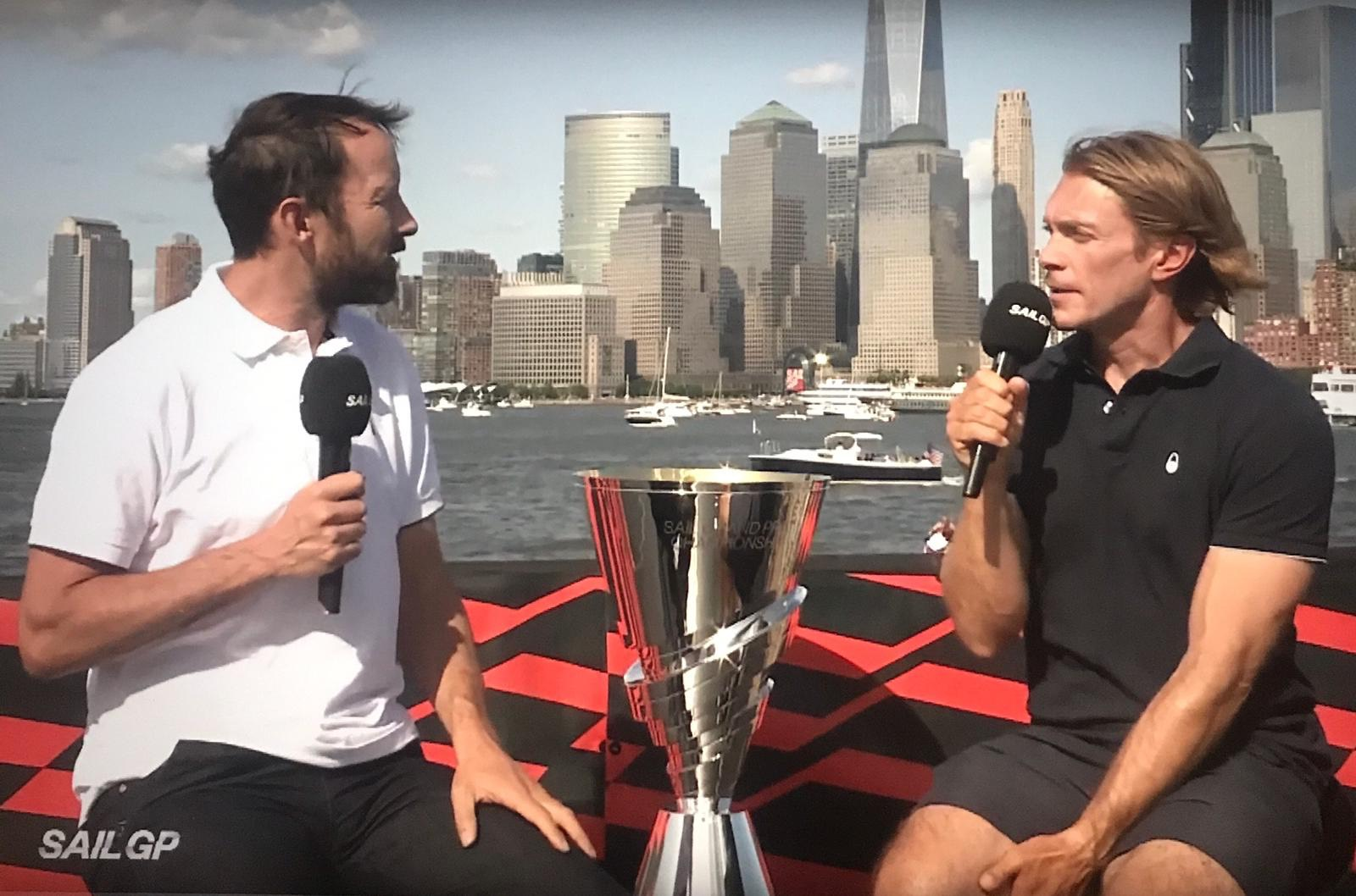 Matt Cornwell Broadcasting At NY Sail GP Regatta